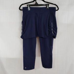 Athleta 2 in 1 cropped leggings & skirt